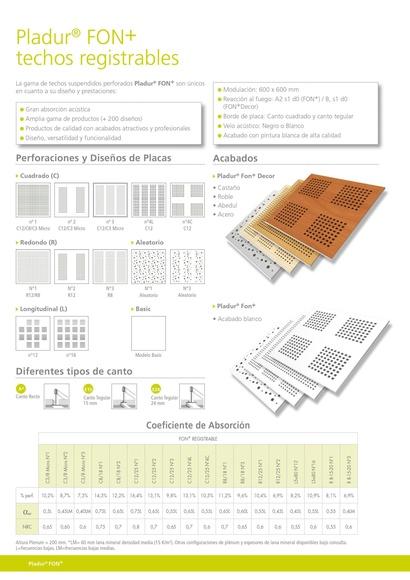 Pladur Fon techo registrable: Materiales - Distribuciones de AISLAMIENTOS LORSAN