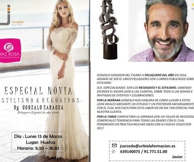 Curso para profesionales novias estilismo y recogidos