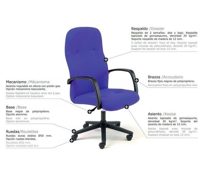 sillon de direccion kato de somomar en color azul. a 215 € + iva