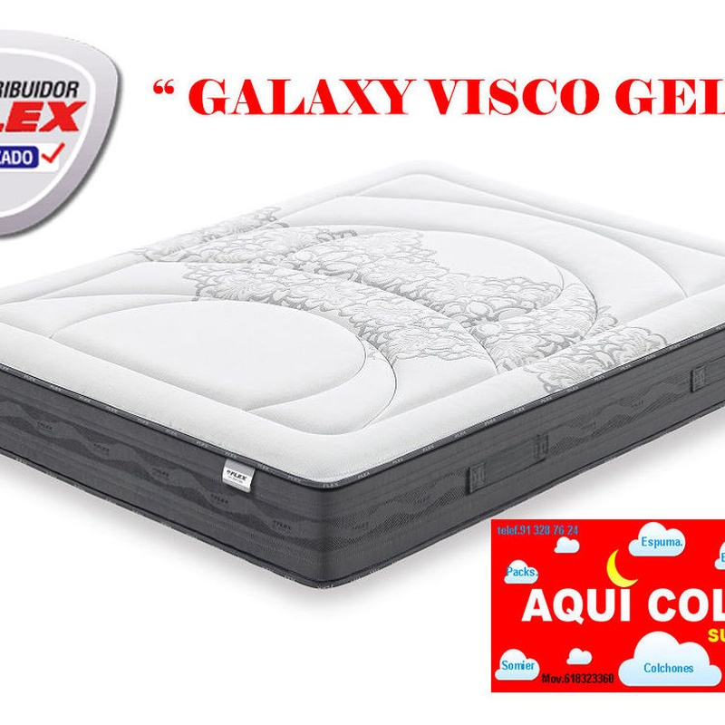 Colchón Flex Galaxy Visco Gel.: CATALOGO de Aquí Colchón