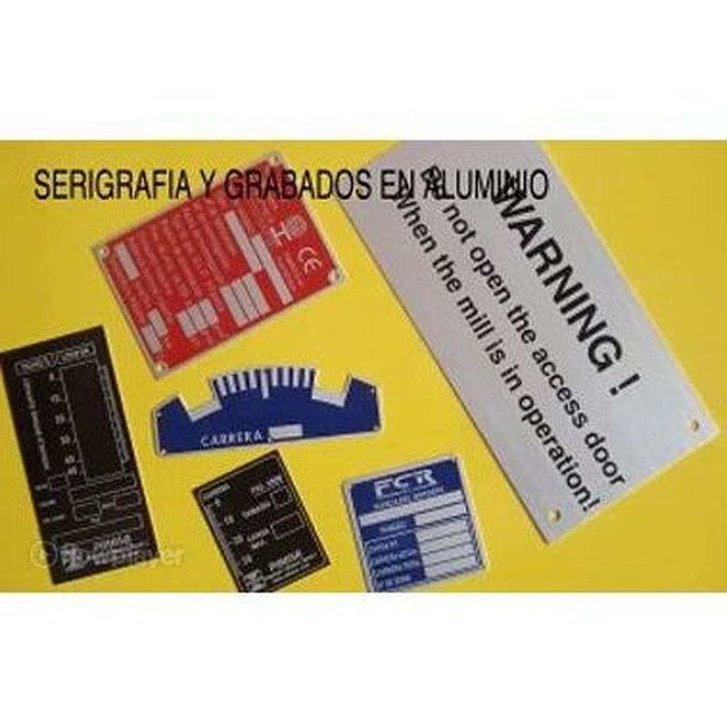 Aluminio: Catálogo de Grabados Dalima, S.L.