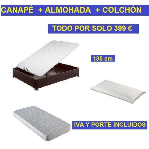 CANAPÉ + COLCHÓN + ALMOHADA