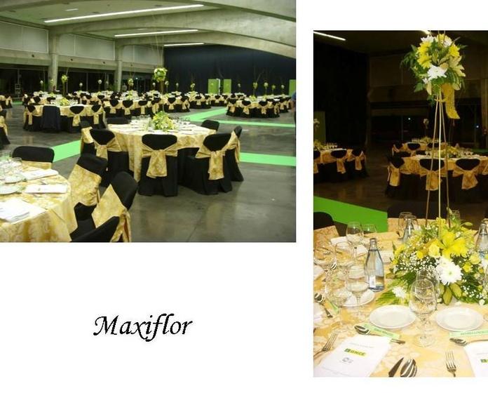 Decoración floral de banquetes: Catálogo  de Floristería Maxiflor