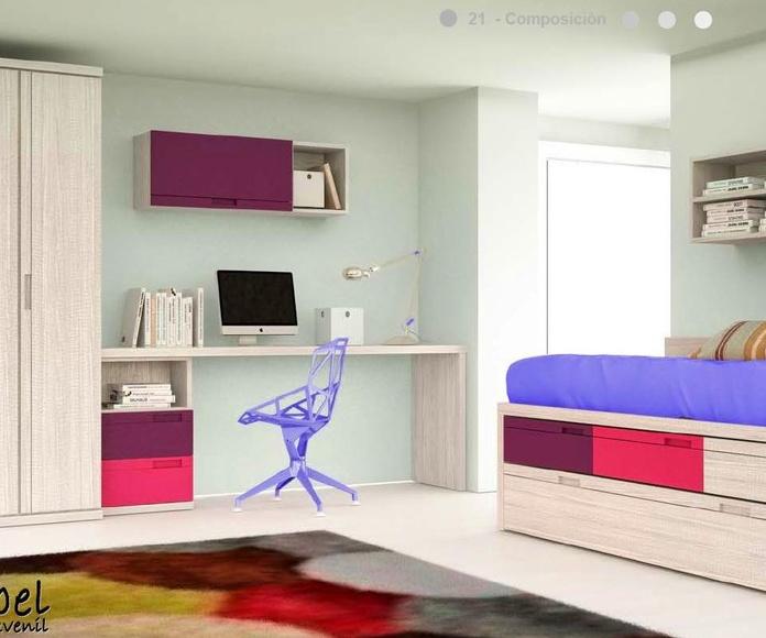 Dormitorio juvenil composición 21