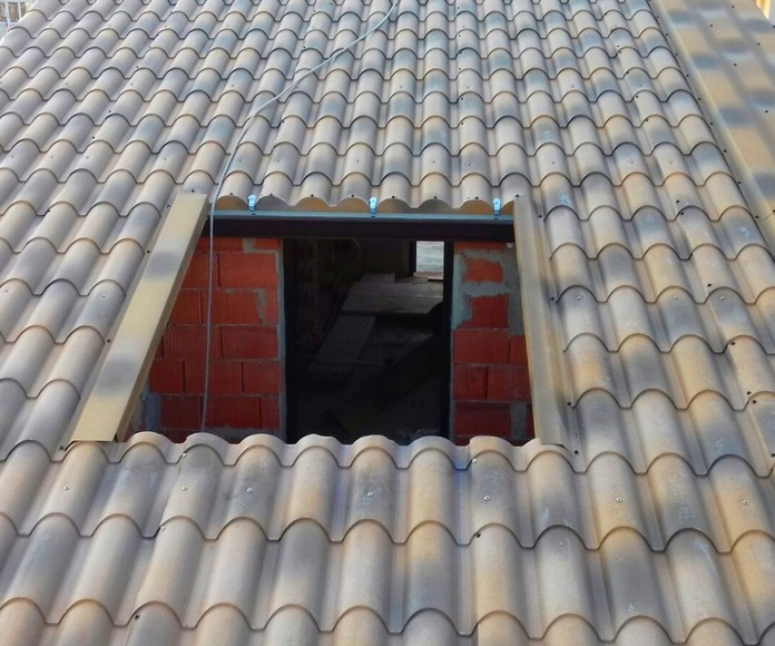 nuevo tejado de panel teja albero