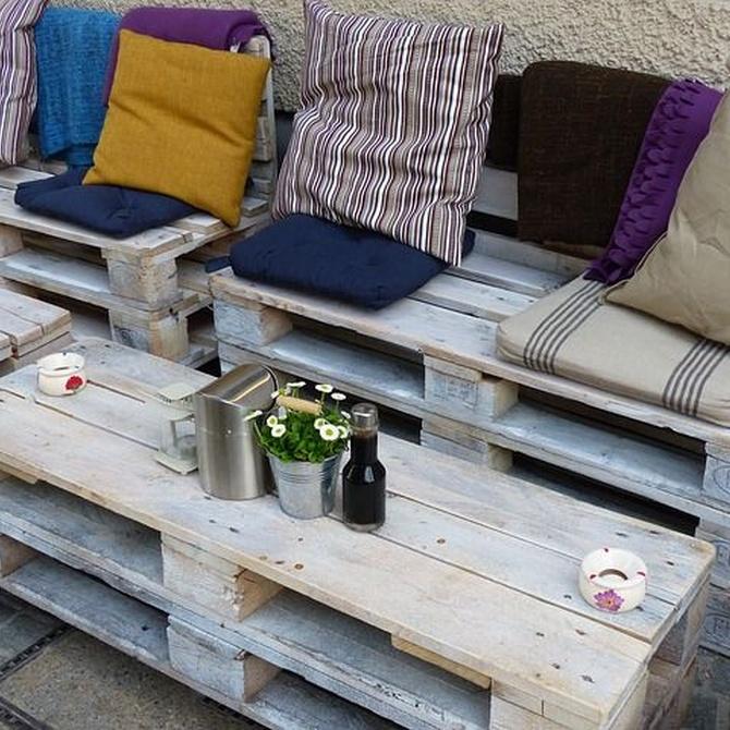 Bueno, bonito y barato: muebles con palets