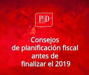 Consejos de planificación fiscal antes de finalizar el 2019