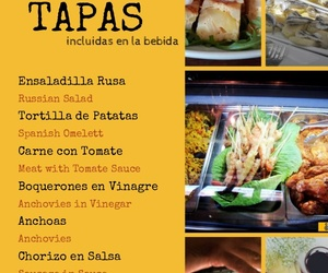 Carta Bar Restaurante Sevillano. Calle Gloria, 14-15. Nerja (Málaga).