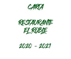 Carta Restaurante El Roble Arganda del Rey