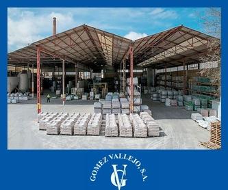 Morteros: Productos y Servicios de Gómez Vallejo, S.A. Arenas Silíceas Especiales