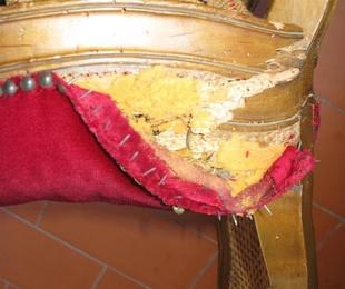 Sillas rejilla tapizadas