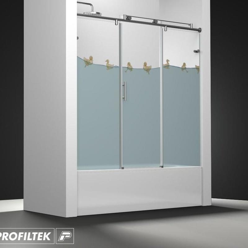 Mampara de baño Profiltek serie Steel modelo ST-111 Light decoración Kids