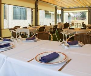Interior terraza Restaurante El Puerto