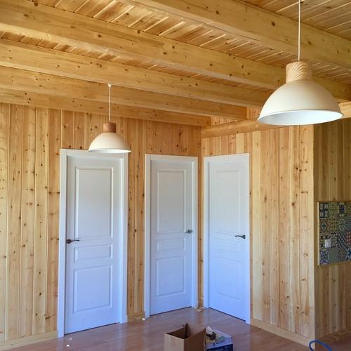 Diversos tamaños de casas de madera