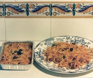 2 Espaguetis de Carne Gratinados.