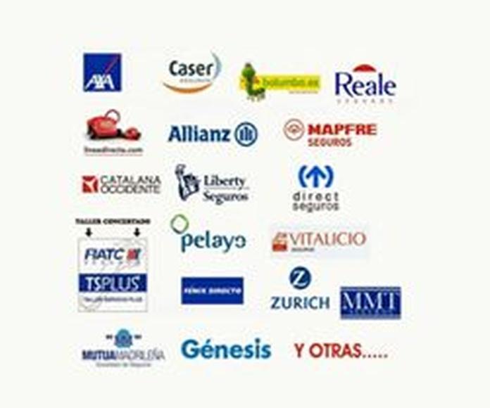 Trabajamos con todas la compañías de seguros: Servicios de AM Factory Cars