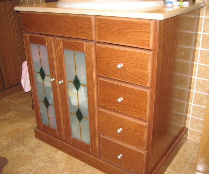 Mueble roble teñido cerezo