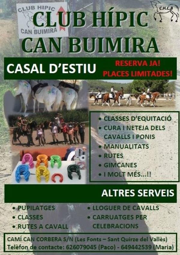 CASAL DE VERANO : Servicios de Hípica Can Buimira