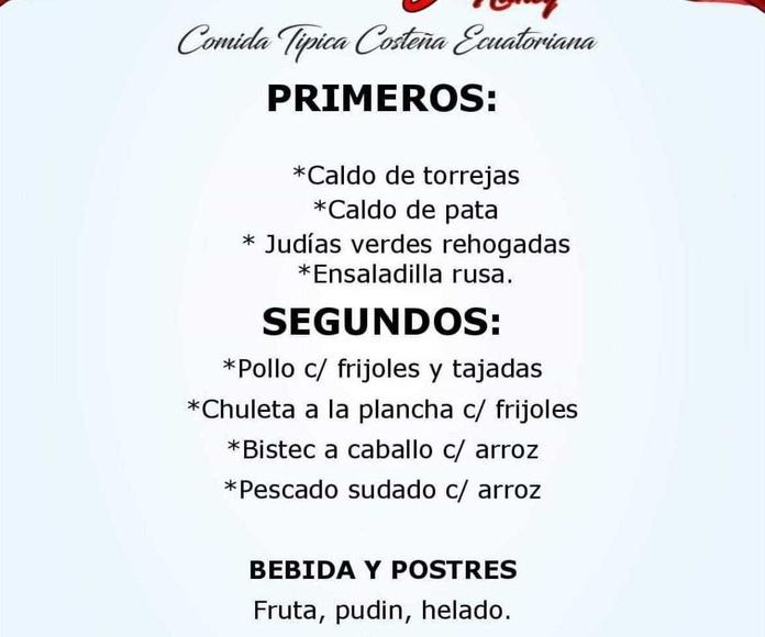 Buenos dias este es el menu de hoy viernes 1 de frebrero