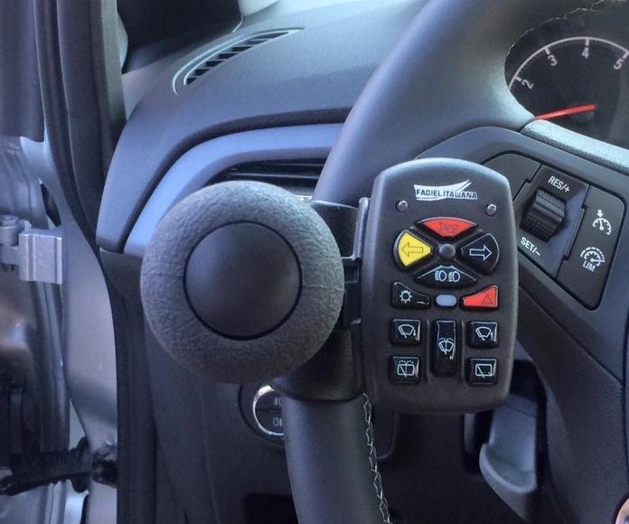 Telecomando con hasta 14 funciones. Adaptación de vehículos en Asturias