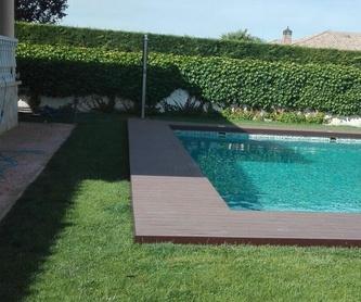 Instalación de tarimas para piscinas