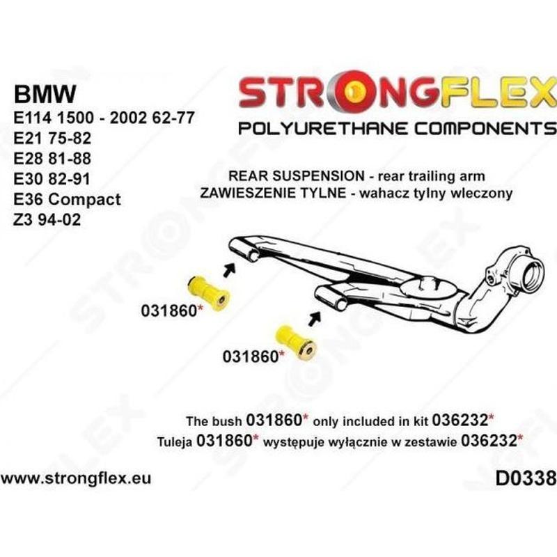 Strongflex - 036232A - Kit regulación caidas eje tras. BMW E30 SPORT: Servicios y Productos de Sirius Tuning