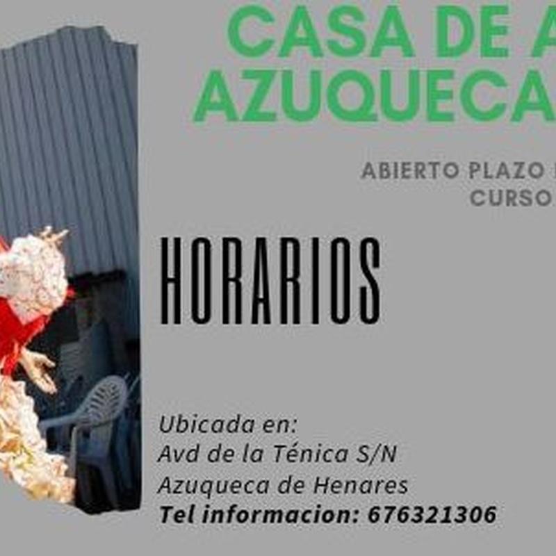 Casa de Andalucía Azuqueca de Henares 2019-2020: Clases de Escuela de Danza Pepe Vento