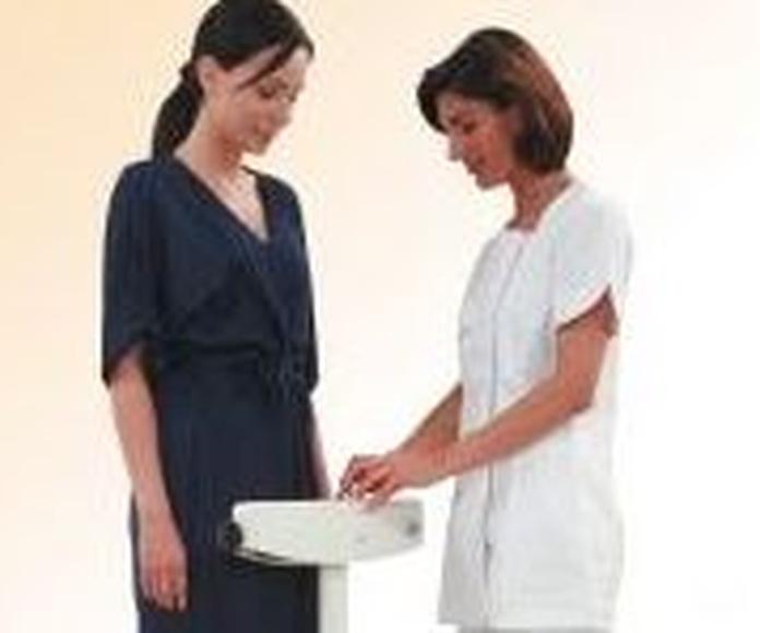 Control del peso en cada sesión, antes y después del tratamiento.