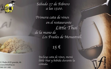 1a. Cata de Vinos en Restaurante Little Thai!!!