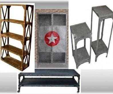 Muebles estilo industrial de forja