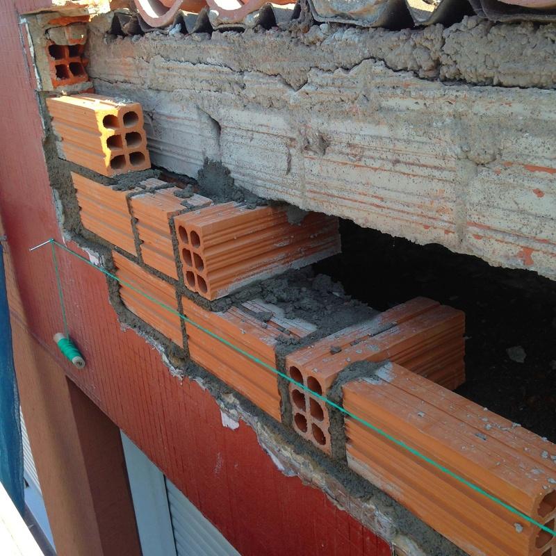 Construcción de tabiques, enlaces, remates de albañilerías