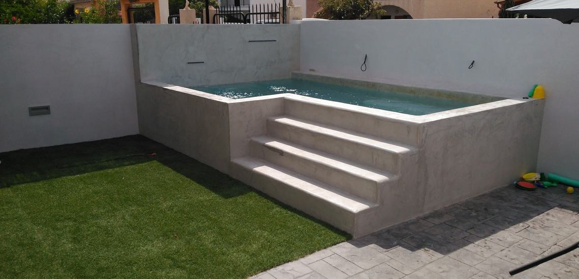 Empresas de microcemento y construcción de piscinas en Murcia