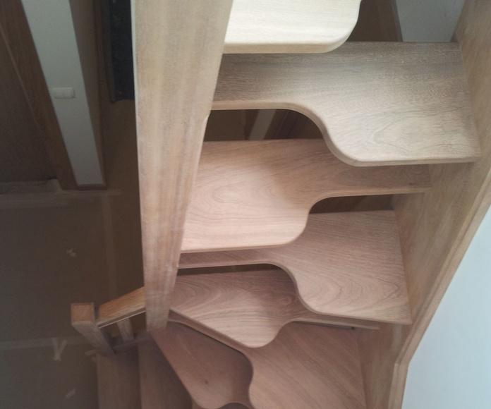 escalera especial para un espacio muy reducido