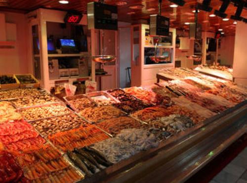 Pescadería en Madrid
