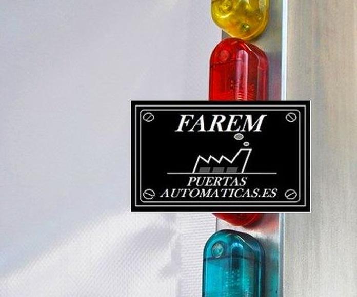 Aviso luminoso Puerta Rápida Salas Blancas Farem Giesse Auto Pharma