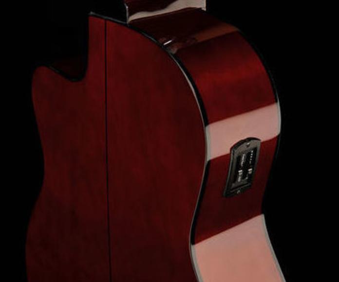 Guitarra española con pastilla económica Harley Benton. Decibelios Playa Honda Lanzarote