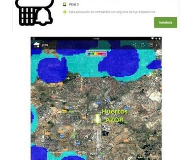 App del clima 'Alarma de lluvia'