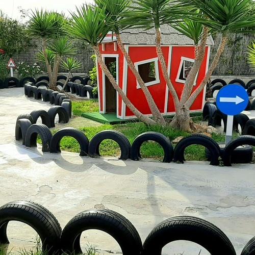 Parque infantil en Ibiza