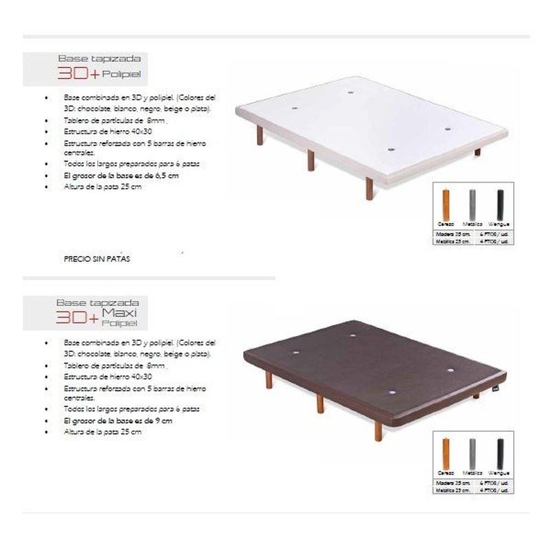 Somieres y Bases: Productos de Muebles Díaz