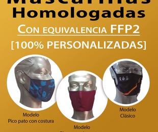 Mascarillas Homologadas con equivalencia FFP2
