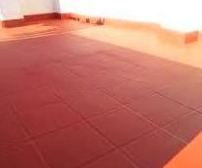 pintura de impermeabilizante de terrazas