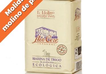 """Harina de trigo ecológica integral W-200 """"Molino de piedra"""" 1 kg"""