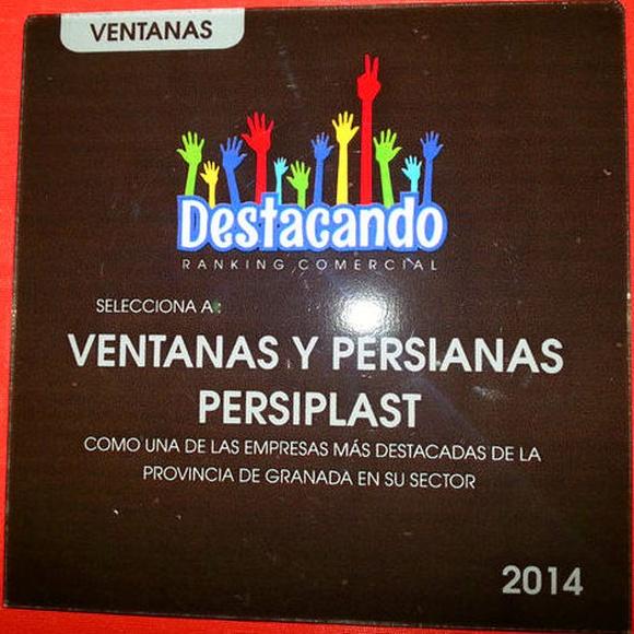 Ventanas y Persianas Persiplast Carpinteria de Aluminio más destacada del sector en 2014 en la provincia de Granada