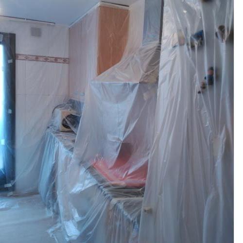 Proceso de pintura de cocina en Terrassa