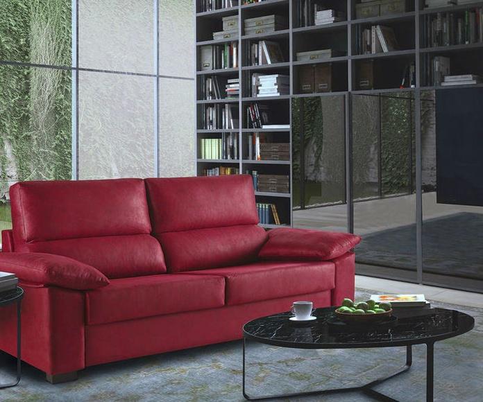sofá cama de 3 plazas con sistema de apertura italiana.