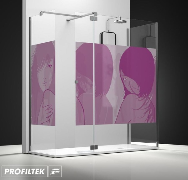 Mampara de baño Profiltek walk-in serie Belus modelo BS-241 decoración Fashion