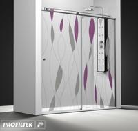 Mampara de baño Profiltek serie Steel modelo ST-210 Light decoración fashion