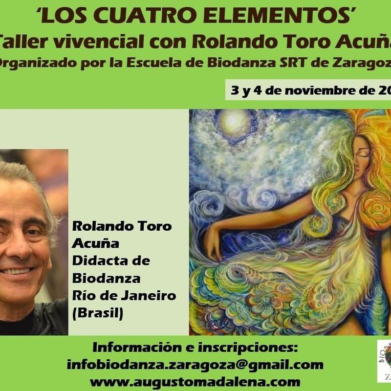 Taller vivencial 'Los cuatro elementos', con Rolando Toro Acuña. Organiza la Escuela de Biodanza SRT de Zaragoza