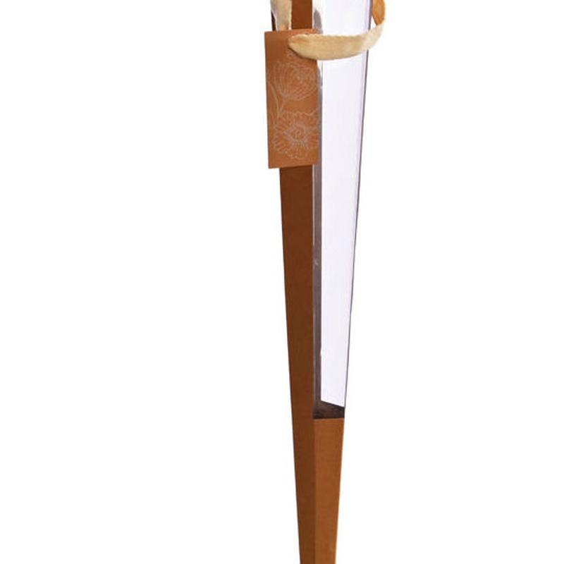 Cucurucho de cartulina+acetato (62,5 cm.) COLOR: Natural REF.:81043 NAT. PRECIO: 1,30 €