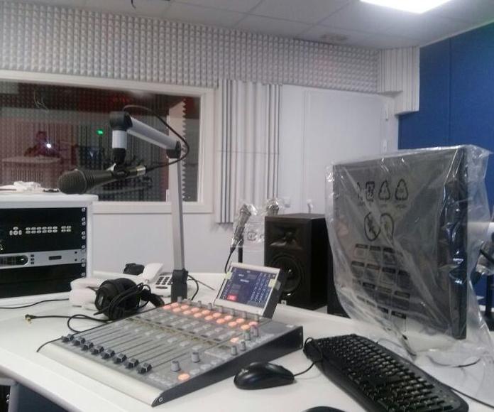Estudio de radio insonorizado